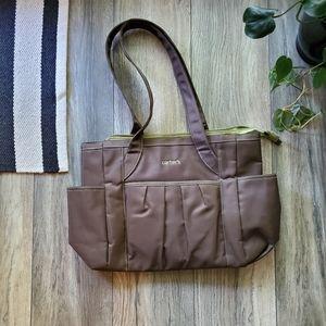 🌴Carter's Diaper Bag | Brown & Lime Green NEW